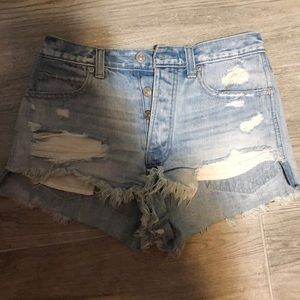 Abercrombie & Fitch Shorts - Super cute high waisted denim shorts